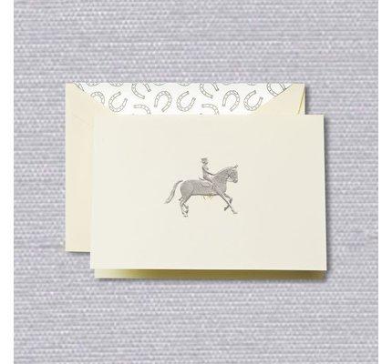 Crane Crane Ecru Equestrian Note (Discontinued)