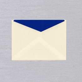Crane Crane Ecru Regent Blue Lined Kent Envelope (Discontinued)