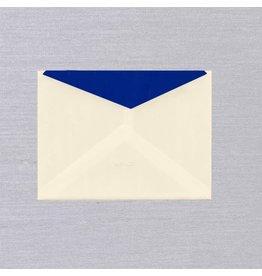 Crane Crane Ecru Regent Blue Lined Kent Envelope (Discontinued)
