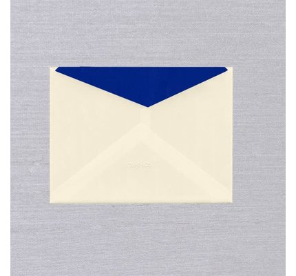 Crane Crane Ecru Regent Blue Lined Kent Envelope