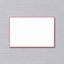 Crane Crane Pearl White Red Bordered Card