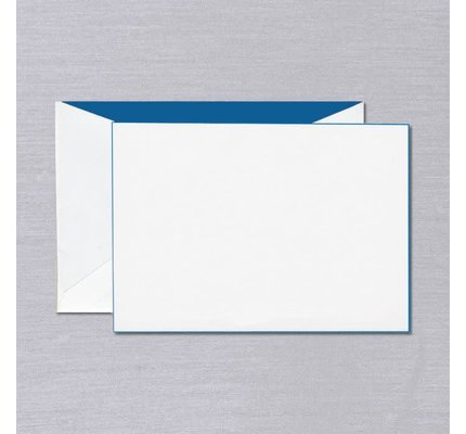 Crane Crane Pearl White Blue Foil Edged Card