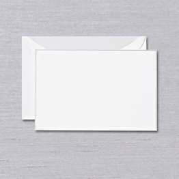 Crane Crane Pearl White Silver Bordered Card