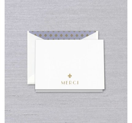 Crane Crane Pearl White Merci Thank You Note