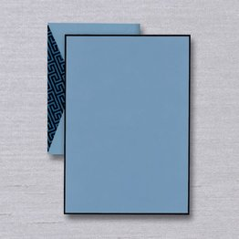 Crane Crane Bordered Dalton Blue Half Sheet