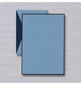 Crane Crane Bordered Dalton Blue Half Sheet