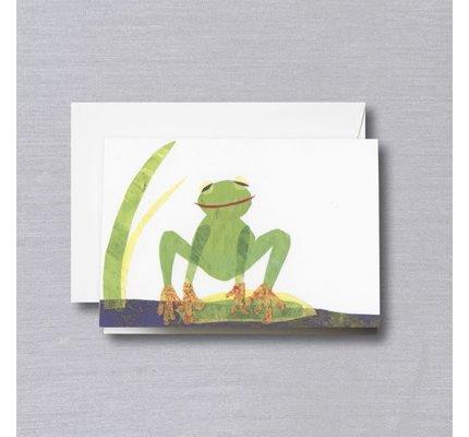 Crane Crane Cut Paper Frog Pearl White Note