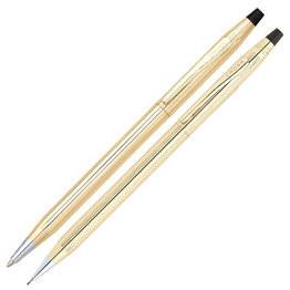 A. T. Cross Cross Classic Century 10KT Gold Filled/Rolled Gold Pen and Pencil Set