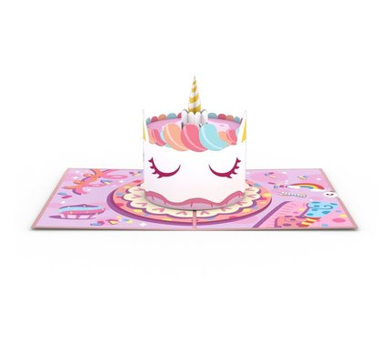 Lovepop Unicorn Cake 3D Card