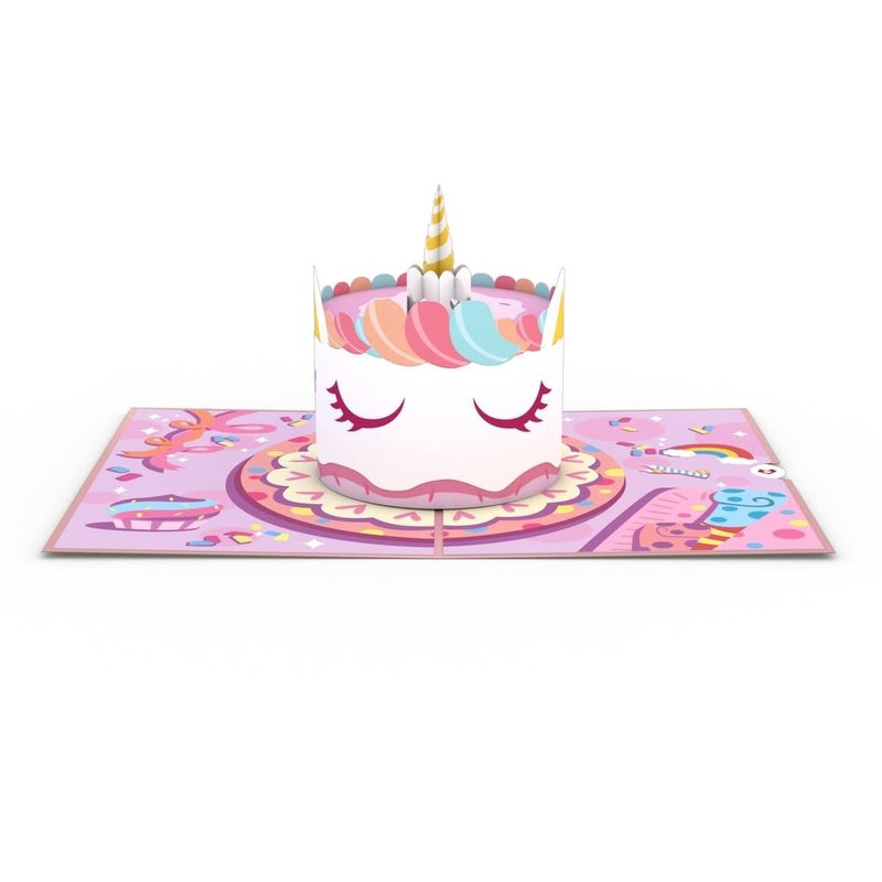Lovepop Unicorn Cake 3D Card