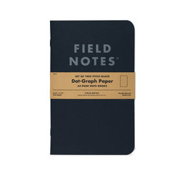 Field Notes Pitch Black Notebook Dot-Graph 2-Pack