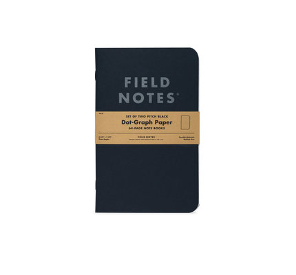 Field Notes Field Notes Pitch Black Notebook Dot-Graph 2-Pack