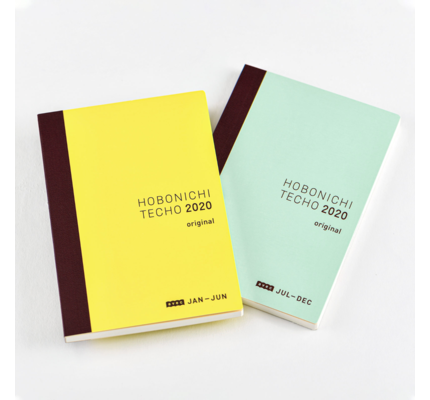 Hobonichi Hobonichi Techo 2020 Original Avec A6 2-Book Set