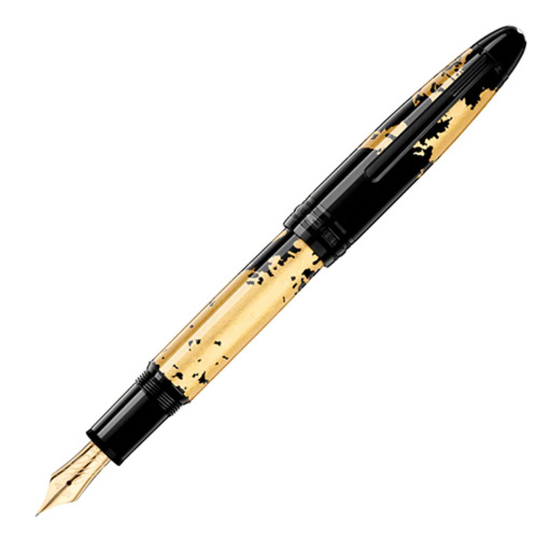 Montblanc Montblanc Solitaire Lacquer in Gold Leaf Le Grand Fountain Pen Flex