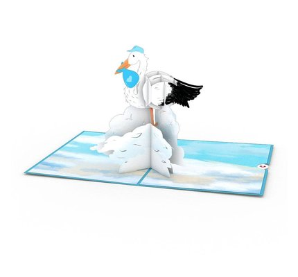 Lovepop Stork Blue 3D Card
