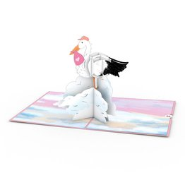 Lovepop Stork Pink 3D Card