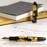 Montblanc Montblanc Solitaire Laquer in Gold Leaf Le Grand Fountain Pen Flex