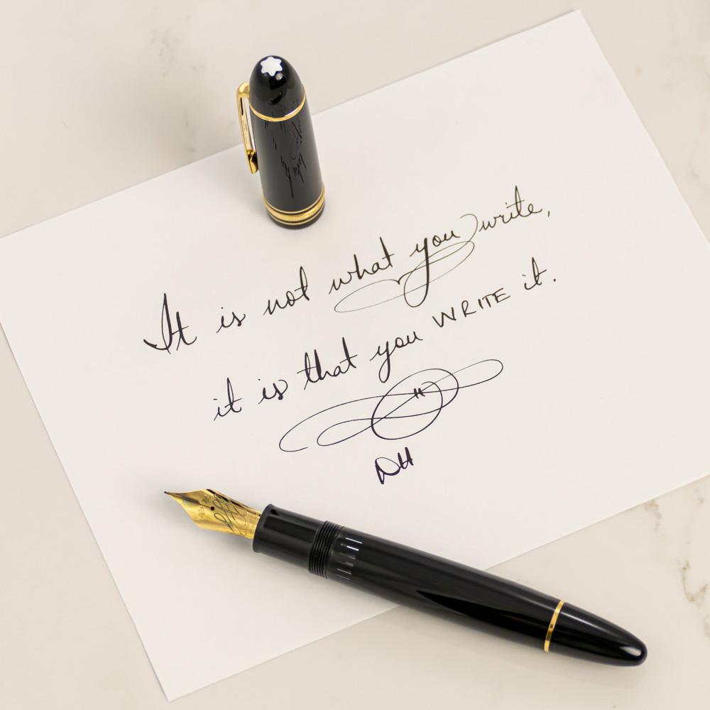 Montblanc Meisterstuck 149 Calligraphy Flex Fountain Pen ...