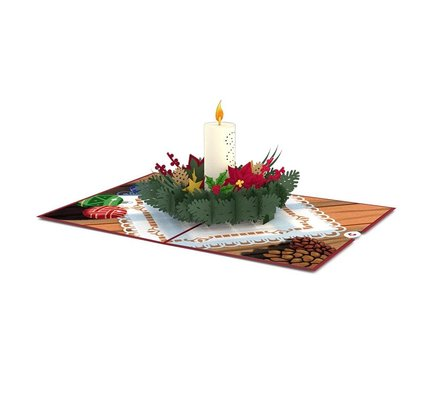 Lovepop Night Before Christmas Candle 3D Card