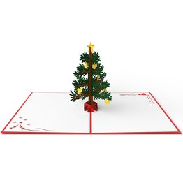Lovepop Christmas Tree Red 3D Card