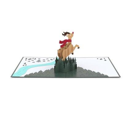 Lovepop Rudolph 3D Card