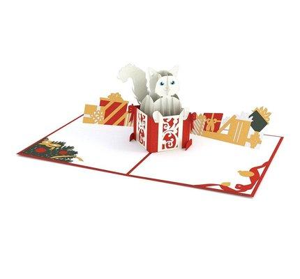 Lovepop Christmas Cat 3D Card