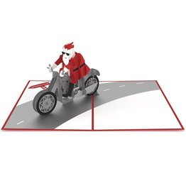 Lovepop Santa Biker 3D Card
