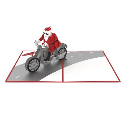 Lovepop Lovepop Santa Biker 3D Card