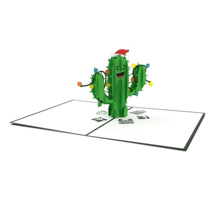 Lovepop Holiday Cactus 3D Card