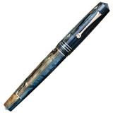 Leonardo Leonardo Momento Zero Grande Fountain Pen Dark Hawaii Rhodium Trim