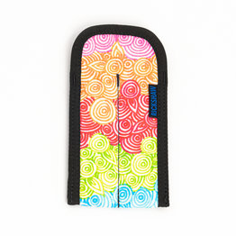 Rickshaw 2 Pen Plush Coozy Jkwrites-Rainbow Digiprint
