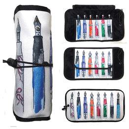 Rickshaw Deluxe 6 Pen Roll Fountain Pens by Ricardo Pinto