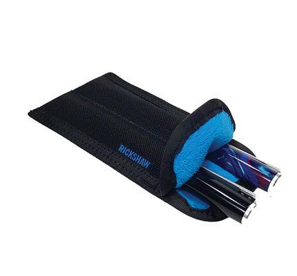 Rickshaw 2 Pen Plush Coozy Color Drop Down Black-Cerulean