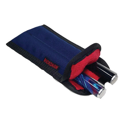 Rickshaw 2 Pen Plush Coozy Color Drop Down Navy-Red