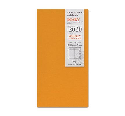 Traveler's Notebook Regular 2020 Refill Weekly Vertical