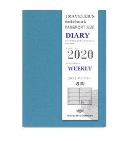 Traveler's Traveler's Notebook Passport Refill 2020 Weekly