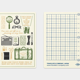 Traveler's Notebook Passport 2020 Plastic Sheet