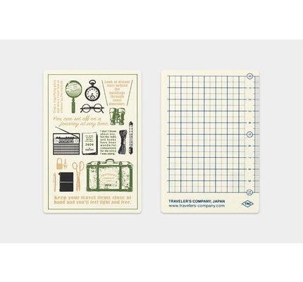 Traveler's Traveler's Notebook Passport 2020 Plastic Sheet