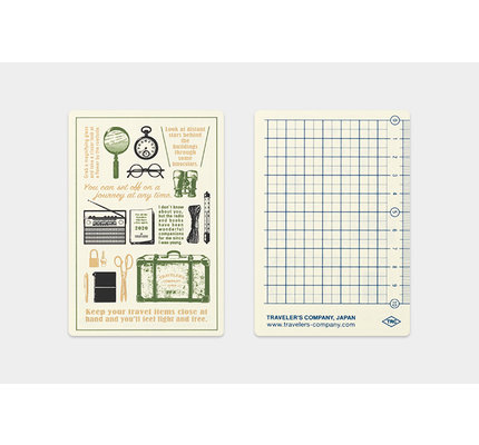 Traveler's Notebook Regular 2020 Plastic Sheet