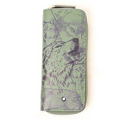 Montblanc Montblanc Meisterstück 1-Pen Pouch Wolf Green