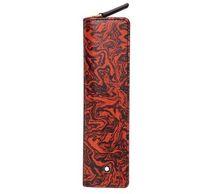 Montblanc Montblanc Sartorial 1 Pen Pouch Zip AR Heritage Marble Black