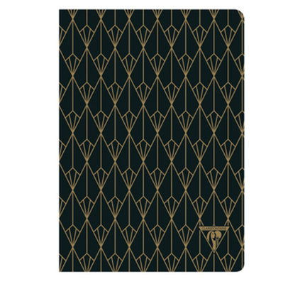 Clairefontaine Clairefontaine #192136 Neo Deco Black Diamond Lined Notebook 6 x 8.25