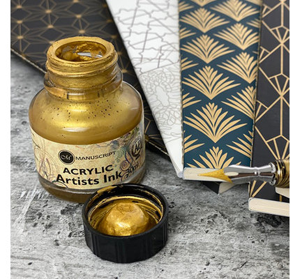 Manuscript Manuscript Acrylic Artist's Metallic Gold - 30ml Bottled Ink