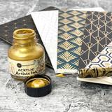 Manuscript Manuscript Acrylic Artist's Metallic Gold - 30ml Bottled Ink