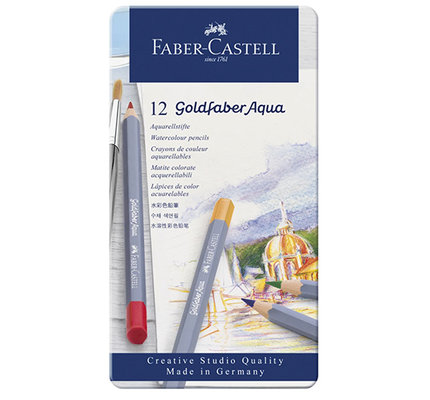 Faber-Castell Faber-Castell Goldfaber Aqua Watercolor Pencils - Set of 12