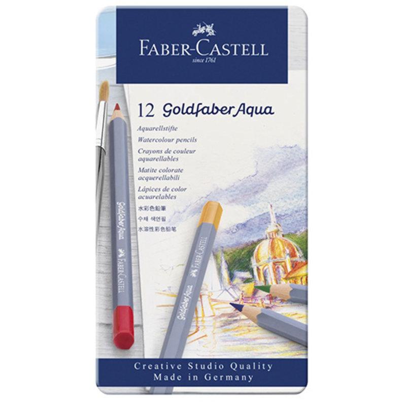 Faber-Castell Faber-Castell Goldfaber Aqua Watercolor Pencils - Set of 12