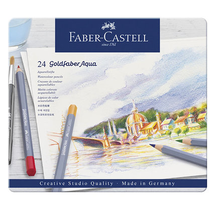 Faber-Castell Faber-Castell Goldfaber Aqua Watercolor Pencils - Set of 24