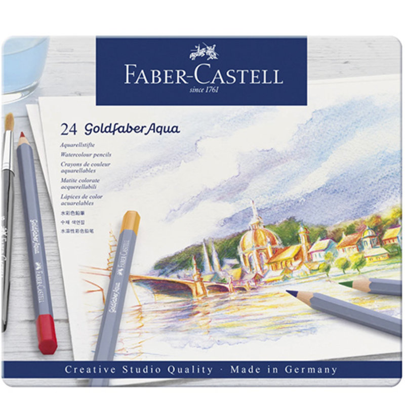 Faber-Castell Faber-Castell Goldfaber Aqua Watercolor Pencils - Set of 24