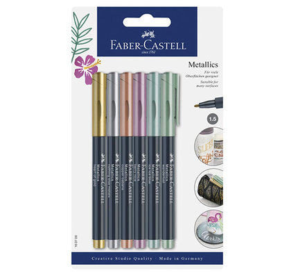 Faber-Castell Faber-Castell Metallic Markers 1.5mm