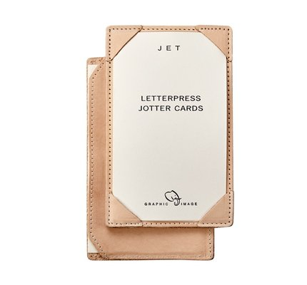 Graphic Image Graphic Image Natural Vachetta Leather Jotter for 3x5 Cards